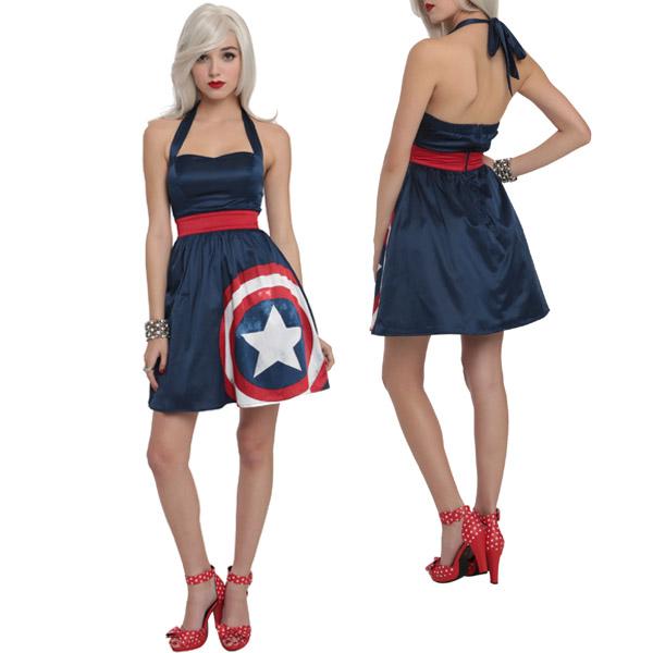 Marvel-By-Her-Universe-Captain-America-Halter-Dress